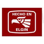 Personalizado del personalizado del en Elgin de He Felicitacion