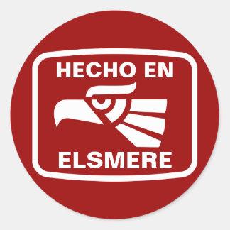 Personalizado del personalizado del en Elsmere de Pegatina Redonda