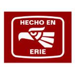 Personalizado del personalizado del en Erie de Hec Tarjetas Postales