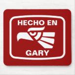 Personalizado del personalizado del en Gary de Hec Tapete De Ratón