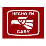 Personalizado del personalizado del en Gary de Hec Postal