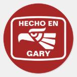 Personalizado del personalizado del en Gary de Pegatinas Redondas