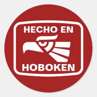 Personalizado del personalizado del en Hoboken de Pegatina Redonda