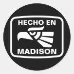 Personalizado del personalizado del en Madison de Etiqueta Redonda