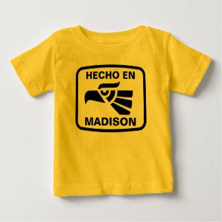 Personalizado del personalizado del en Madison de Playera Para Bebé