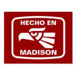 Personalizado del personalizado del en Madison de Postal