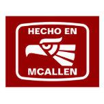 Personalizado del personalizado del en McAllen de Tarjeta Postal