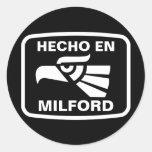 Personalizado del personalizado del en Milford de Pegatina Redonda