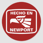 Personalizado del personalizado del en Newport de Etiquetas Redondas