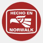 Personalizado del personalizado del en Norwalk de Pegatina Redonda
