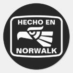 Personalizado del personalizado del en Norwalk de Etiqueta Redonda