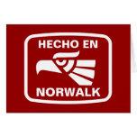 Personalizado del personalizado del en Norwalk de  Tarjeton