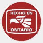 Personalizado del personalizado del en Ontario de  Etiquetas Redondas