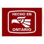 Personalizado del personalizado del en Ontario de  Felicitación
