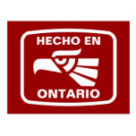 Personalizado del personalizado del en Ontario de  Postales