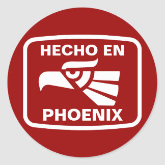 Personalizado del personalizado del en Phoenix de Pegatina Redonda