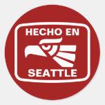 Personalizado del personalizado del en Seattle de Pegatinas Redondas