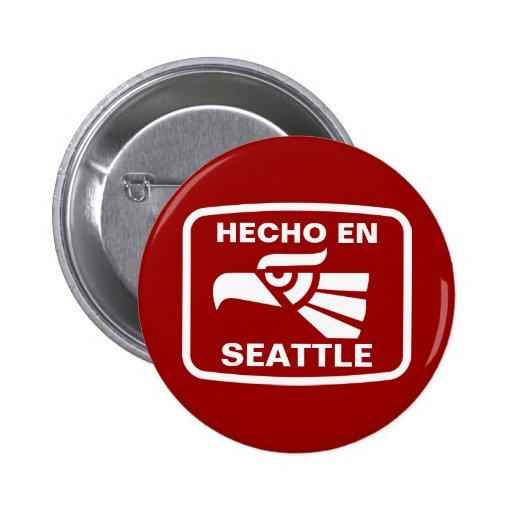 Personalizado del personalizado del en Seattle de  Pin Redondo 5 Cm