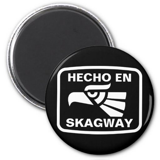 Personalizado del personalizado del en Skagway de  Imán Redondo 5 Cm