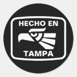 Personalizado del personalizado del en Tampa de Etiquetas Redondas