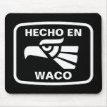 Personalizado del personalizado del en Waco de Hec Alfombrillas De Ratón