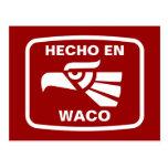 Personalizado del personalizado del en Waco de Hec Tarjetas Postales