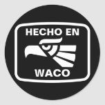 Personalizado del personalizado del en Waco de Pegatinas Redondas