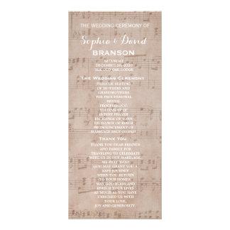 """Personalizado del programa del boda de la hoja de folleto publicitario 4"""" x 9"""""""