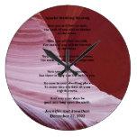 Personalizado del reloj de la foto del barranco de