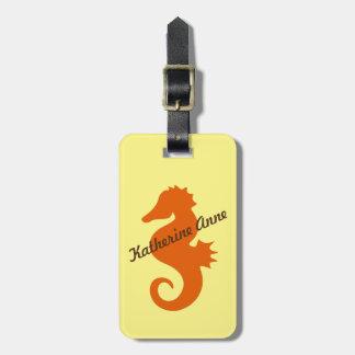 Personalizado del Seahorse de Otange Etiquetas Maletas