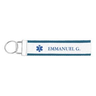 Personalizado del símbolo del paramédico de EMT Llavero De Pulsera