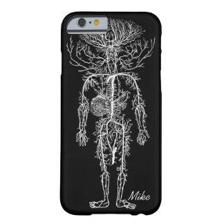 Personalizado del sistema circulatorio del hombre funda para iPhone 6 barely there