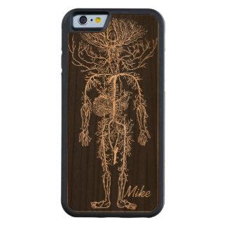 Personalizado del sistema circulatorio del hombre funda de iPhone 6 bumper cerezo