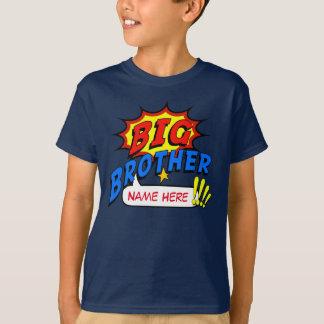 Personalizado del super héroe de hermano mayor playera