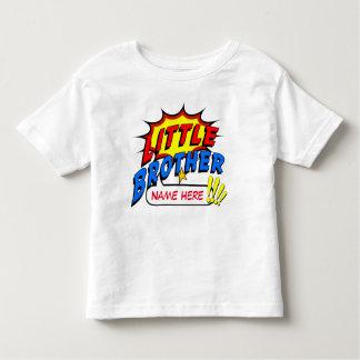 Personalizado del super héroe de pequeño Brother Playera De Bebé