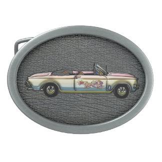 Personalizado del vintage Chevrolet 1964 Corvair 7 Hebillas De Cinturón Ovales