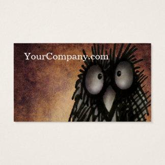 Personalizado divertido del arte del noctámbulo tarjetas de visita