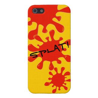Personalizado divertido rojo del chapoteo de la pi iPhone 5 carcasas
