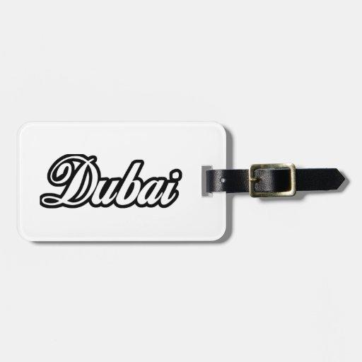 Personalizado Dubai de la capilla del representant Etiquetas De Maletas