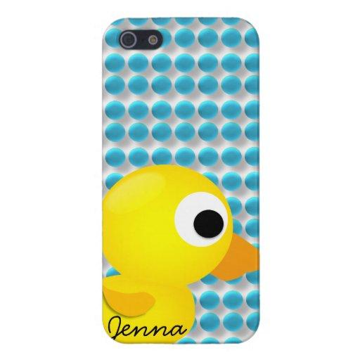 Personalizado Ducky de goma del caso de Iphone 5 d iPhone 5 Fundas