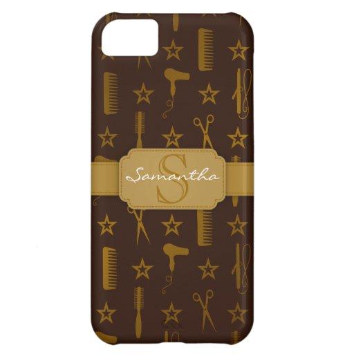 Personalizado elegante de Brown del oro y de los C