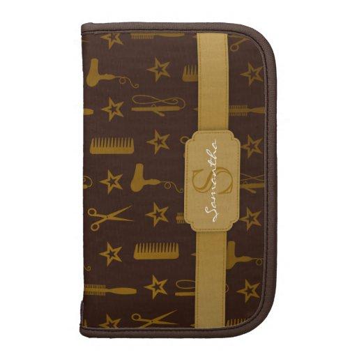 Personalizado elegante de Brown del oro y de los C Organizador