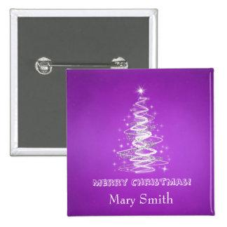 Personalizado elegante de la púrpura del nombre de pin