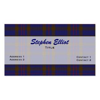 Personalizado elegante de la tela escocesa de tarjetas de visita
