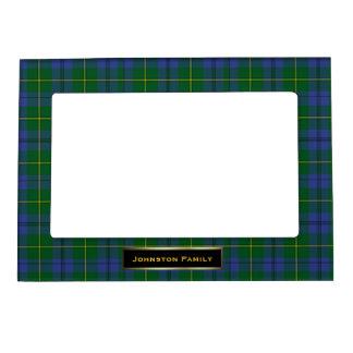Personalizado elegante de la tela escocesa de tart marcos magneticos de fotos