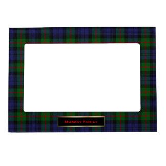 Personalizado elegante de la tela escocesa de tart marcos magnéticos de fotos