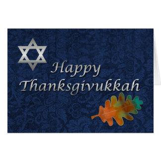 Personalizado elegante de Thanksgivukkah del Tarjeta De Felicitación