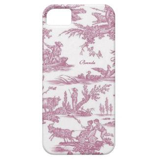Personalizado elegante de Toiles del francés iPhone 5 Case-Mate Cobertura