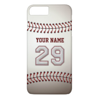 Personalizado elegante del número 29 del béisbol funda iPhone 7 plus