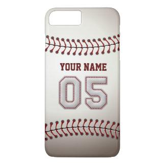 Personalizado elegante del número 5 del béisbol funda iPhone 7 plus